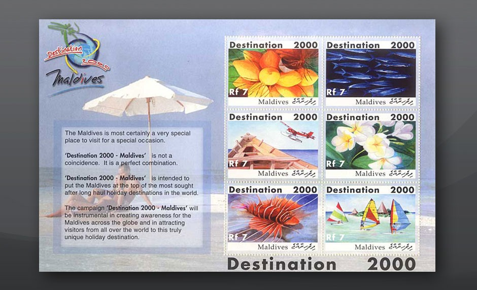 Stamp design destination 2000 Maldives